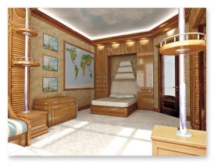 Cameretta Stile Marina - progettazione interni Roma, progettazione ...