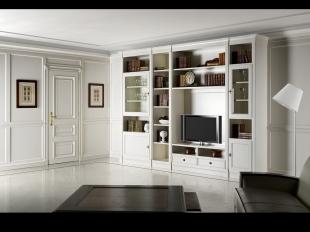 Boiserie con parete attrezzata classico - progettazione interni Roma ...